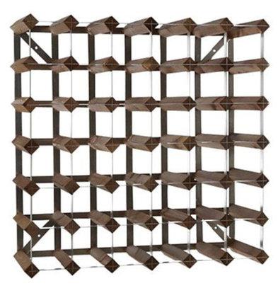 Bar Professional Wine rack 42 bottles - 61.2 x 22.8 x (H) 61,2cm - Wood / Metal