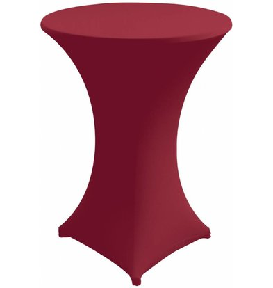Unicover Cocktailtafelhoes Stretch Venus | Bordeaux | Beschikbaar in 3 Maten