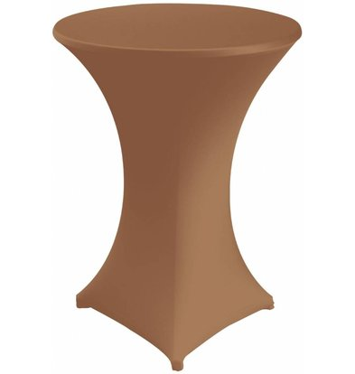 Unicover Cocktailtafelhoes Stretch Venus | Chocolate | Beschikbaar in 3 Maten