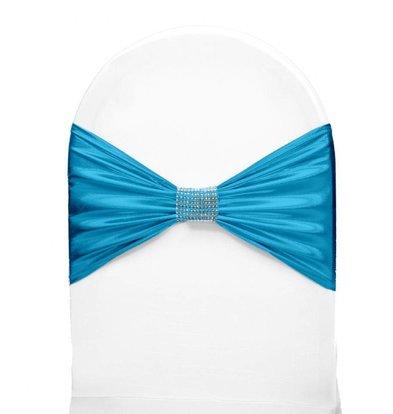 Unicover Stoelband met Zilverbandje | One Size | Turqoise