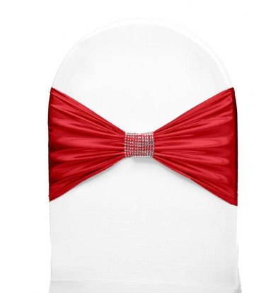 Unicover Stoelband met Zilverbandje | One Size | Rood