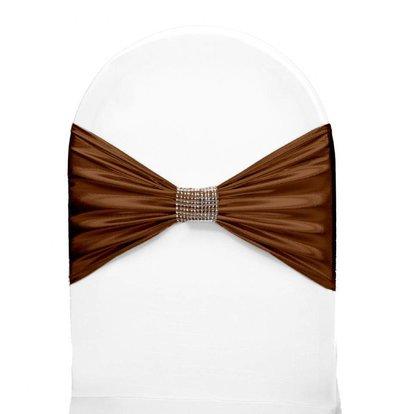 Unicover Stoelband met Zilverbandje | One Size | Chocolate