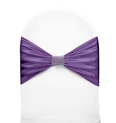 Unicover Stoelband met Zilverbandje | One Size | Lavendel