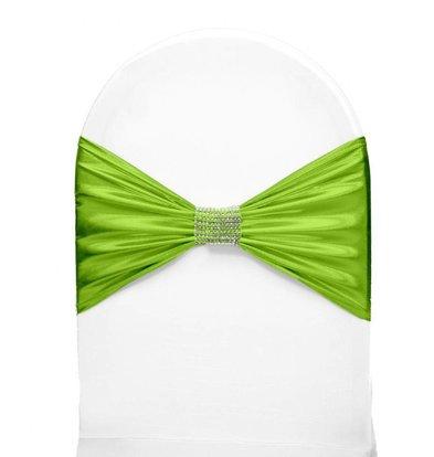 Unicover Stoelband met Zilverbandje | One Size | Lichtgroen