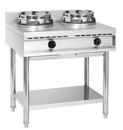 Bartscher Wok cooker, 2 burners