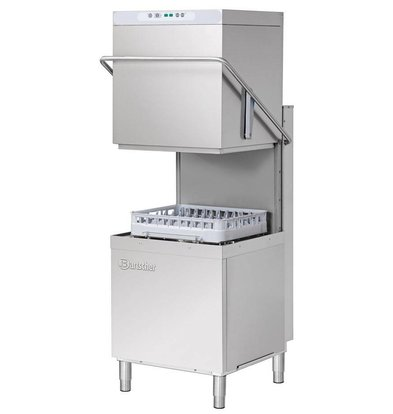Bartscher Pass Trough Dishwasher | 50x50cm | 79x76x (h) 157 / 208cm | Cycle 60/110 / 150sec + 8 min | 400V