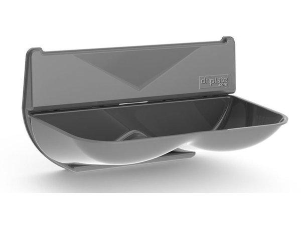 XXLselect Universele Lekbak / Wateropvangbak voor Handdrogers | ABS Polycarbonaat | Grijs