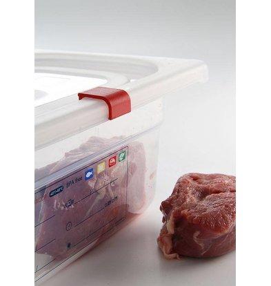 Hendi Deksel voorraaddoos plastic PP GN 1/6