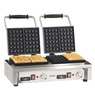 Casselin Double waffle iron | 3200W / 230V | 566x415x290 (h) mm