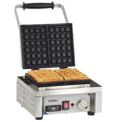 Casselin SS waffle iron | 1600W / 230V | 296x415x290 (h) mm