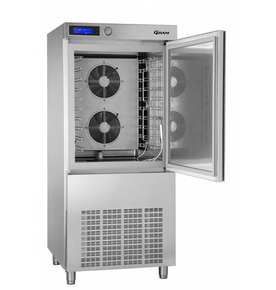 Gram Shock Koeler/Vriezer RVS | Zonder Compressor | Gram KPS 42 SF | 800x830x1850(h)mm