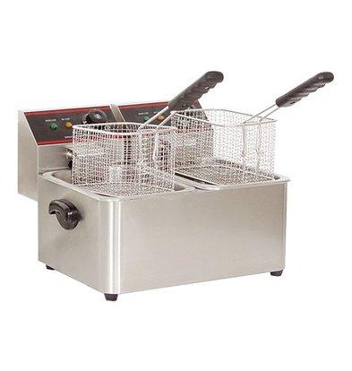Caterchef Fryer CaterChef | XXL Offer | 5 + 5 Liter | 2x2kW | 385x240x (H) 310mm
