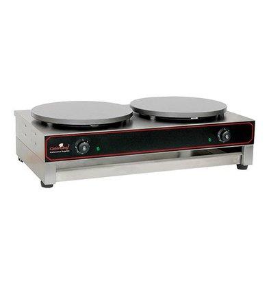Caterchef Dubbele Elektrische Crepes Maker | Professioneel | 2 x 3000W / 230V | 40 cm diameter