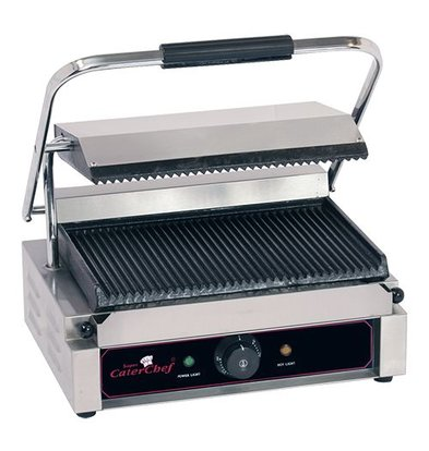 Caterchef Horeca Contact Grill Solo Grande | ribbed | 410x400x (h) 210 | 2200W