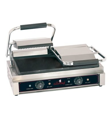 Caterchef Contactgrill Dubbel Compact Geribd/Glad - 57x40x21(h) - 3600W
