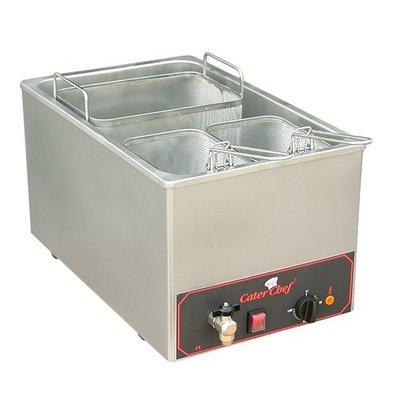Caterchef Pastakookapparaat | 18 liter | Inc 3 mandjes | 3200W | 230V | 350x480x(H)290mm