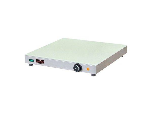 Caterchef Elektrische Warmhoudplaat - Gehard Glas - 50x50x(h)7cm