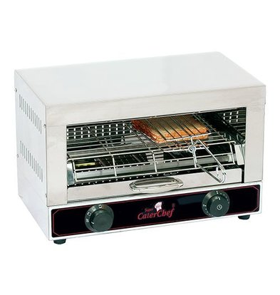 Caterchef Toaster sandwich three terminals with separate adjustable elements - 44x25x (H) 29cm - 1700W