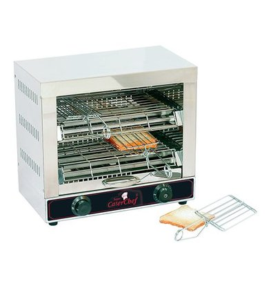 Caterchef Toaster 6 Sandwich terminals 18/10 stainless steel - 44x25x (H) 40cm - 3000W