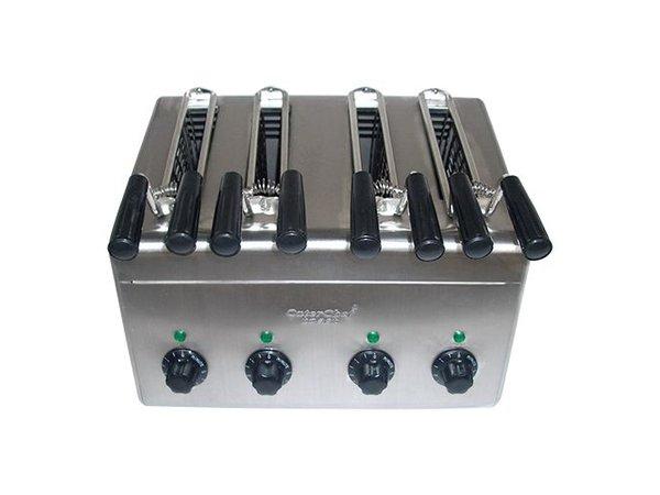 Caterchef Tosti apparaat 4 klems voor direct gebruik - 31x38x(H)29cm - 2400W