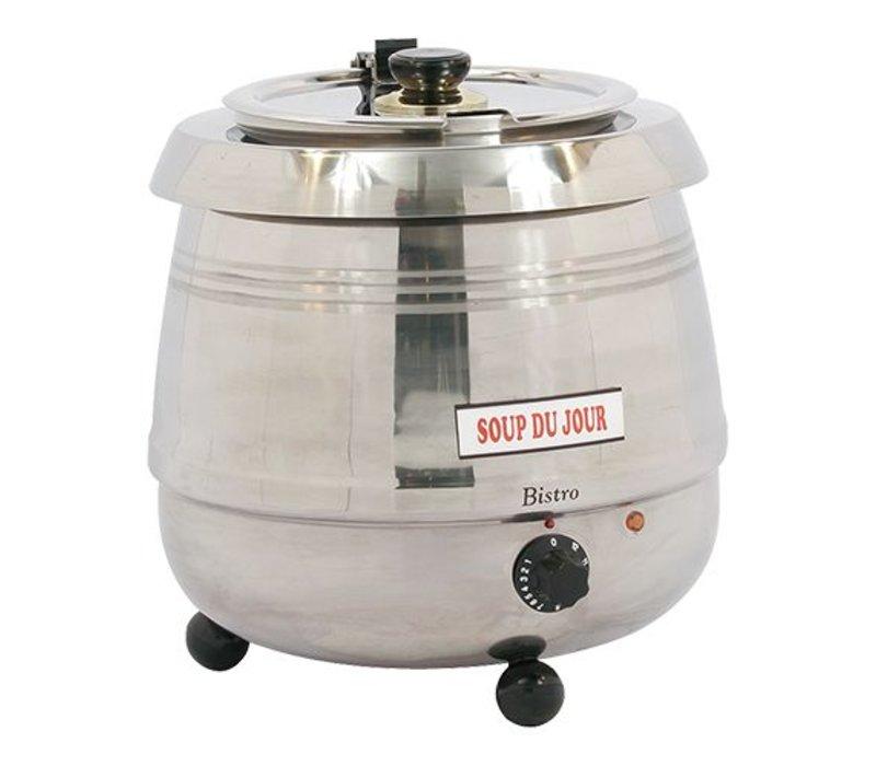 Bistro Elektrische Soepketel 10 Liter RVS