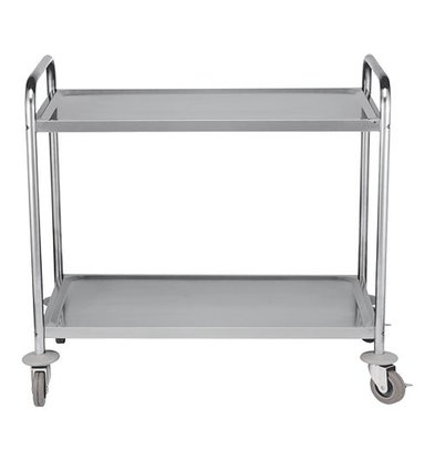 Emga Trolley stainless steel 2 sheets | 970x550x (H) 950mm