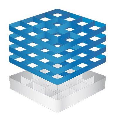 CaterRacks Foot glass basket - 16 boxes - (h) 24 cm - 11.2 cm diameter
