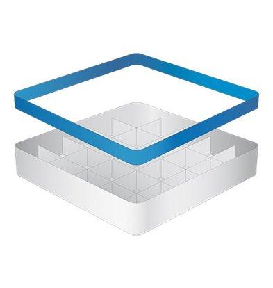 CaterRacks Beakers basket - 25 boxes - (h) 12 cm - 9 cm diameter