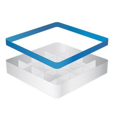 CaterRacks Beakers basket - 16 boxes - (h) 12 cm - 11.2 cm diameter