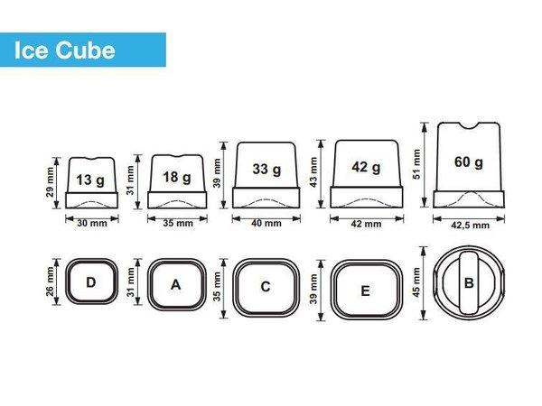 Brema IJsblokjesmachine 65kg/24u | Bunker 40kg | Brema CB 640