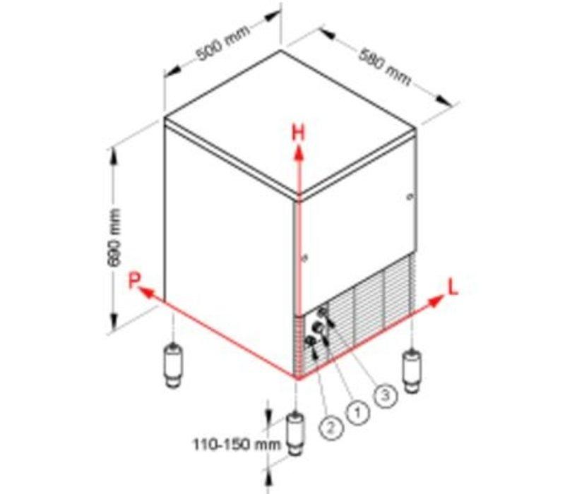 Brema IJsblokjesmachine 33kg/24u   Bunker 16kg   Brema CB 316