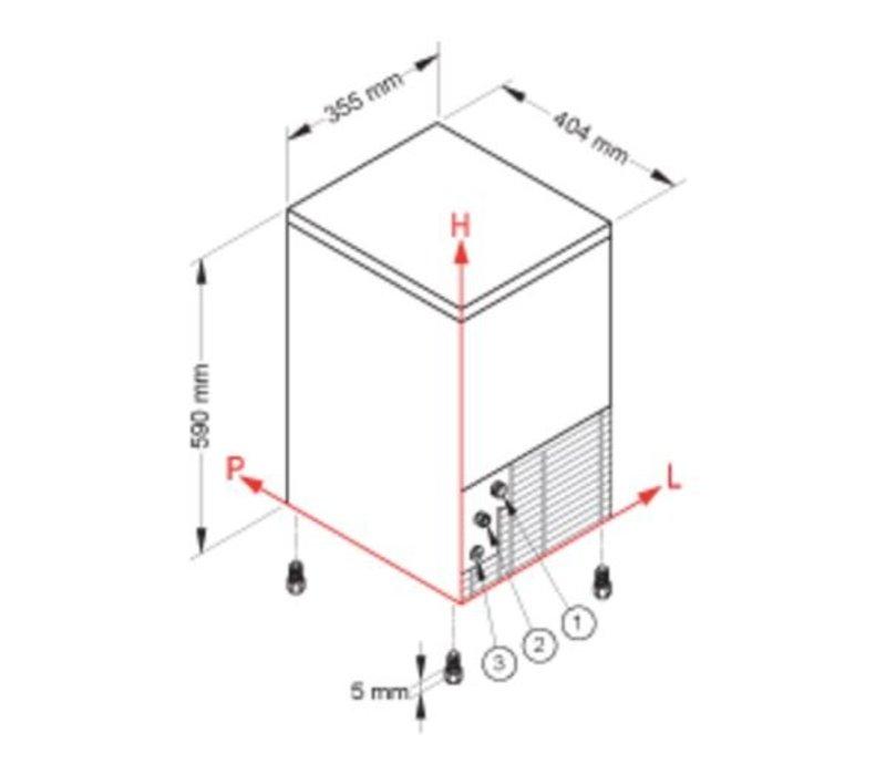 Brema IJsblokjesmachine 21kg/24u   Bunker 4kg   Brema CB 184 ABS