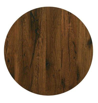 Werzalit Tafelblad Werzalit | Antique Oak | Ø600mm
