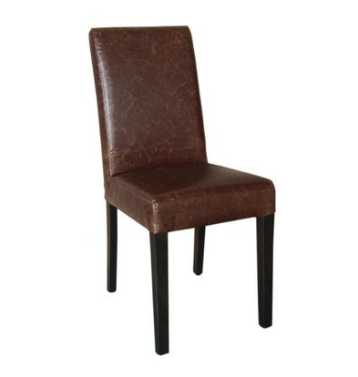 Bolero Art Leather Dining Chair | Antique Brown | 2 pieces