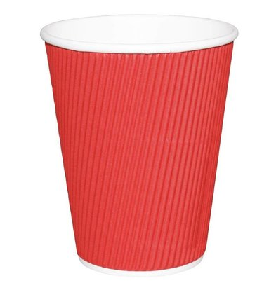Fiesta Disposable Cups Wrinkled Red | 230ml | 25 pieces