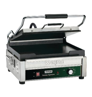 Waring Commercial Grooved Panini Grill | 2kW | 394x292x235 (h) mm