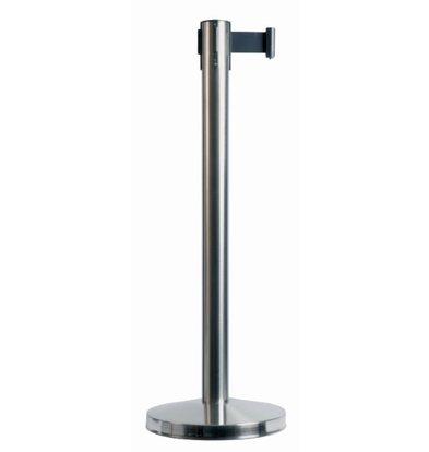 Securit Afzetpaaltje Chroom 10 kg | Zwart Trekband 190cm | 910(h)mm