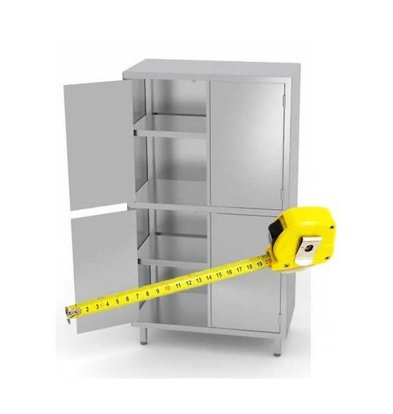 XXLselect Stainless Porcelain Cabinet on Size - All kinds of tableware cabinets Stainless steel available in any size