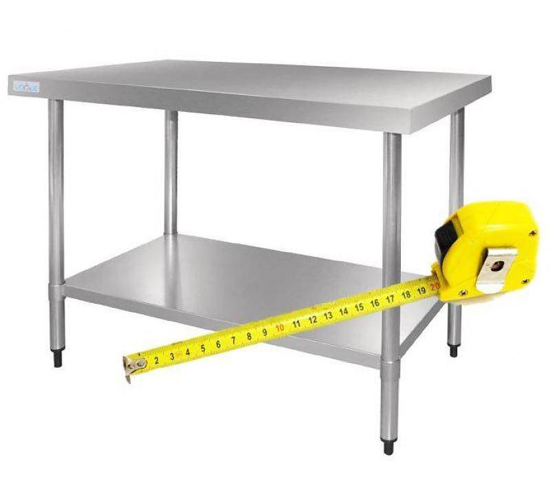 Tremendous Xxlselect Stainless Steel Workbench Without Bottom Shelf On Andrewgaddart Wooden Chair Designs For Living Room Andrewgaddartcom