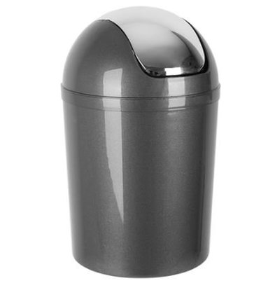 Emga Waste bin Plastic with tuft cover | 5L | Gray