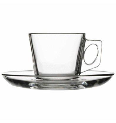 XXLselect Espressokopje met Schotel | Glas | 75ml | Per 24 Stuks