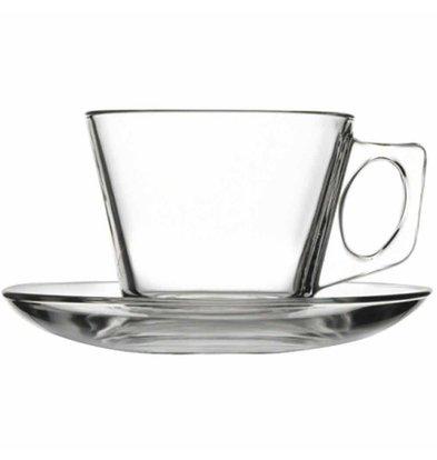 XXLselect Koffiekopje met Schotel | Glas | 185ml | Per 24 Stuks