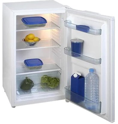 Exquisit Fridge White | 93 liters | 2 plates and 1 drawer | 480x520x850 (h) mm