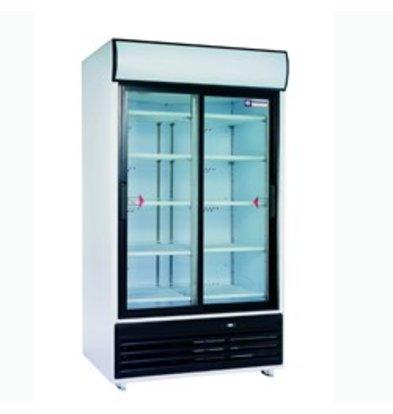 Diamond Refrigerator - 875 Liter - Glass doors - 2x5 grid - 118x82x (h) 202cm