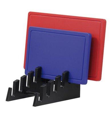 Emga Standaard voor 6 snijplanken - HDPE 500 - zwart