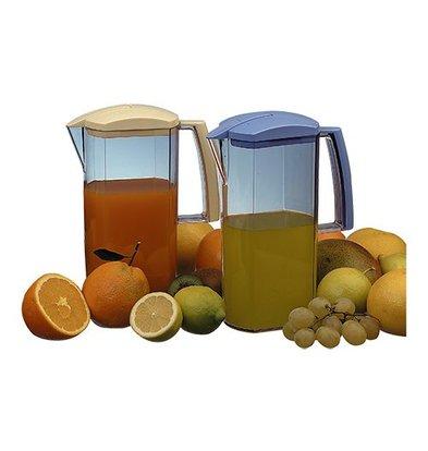 Araven Schenkkan | 2 Liter | Transparant Acryl | Automatisch Sluitende Tuit | Hoogte 26,5cm
