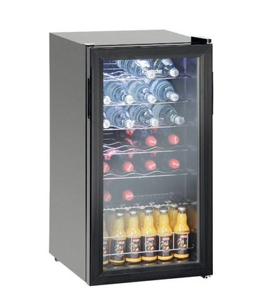 Bartscher Bottles Refrigerator / Wine Fridge 28 bottles - 88 liters - LED Lighting - 430x480x (H) 820mm
