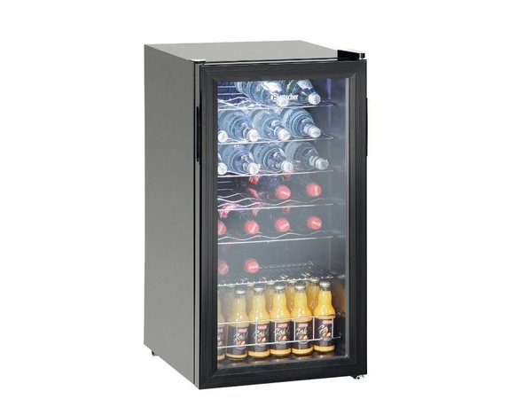 Bartscher Flessenkoelkast / Wijnkoelkast 28 flessen - 88 liter - LED Verlichting - 430x480x(H)825mm