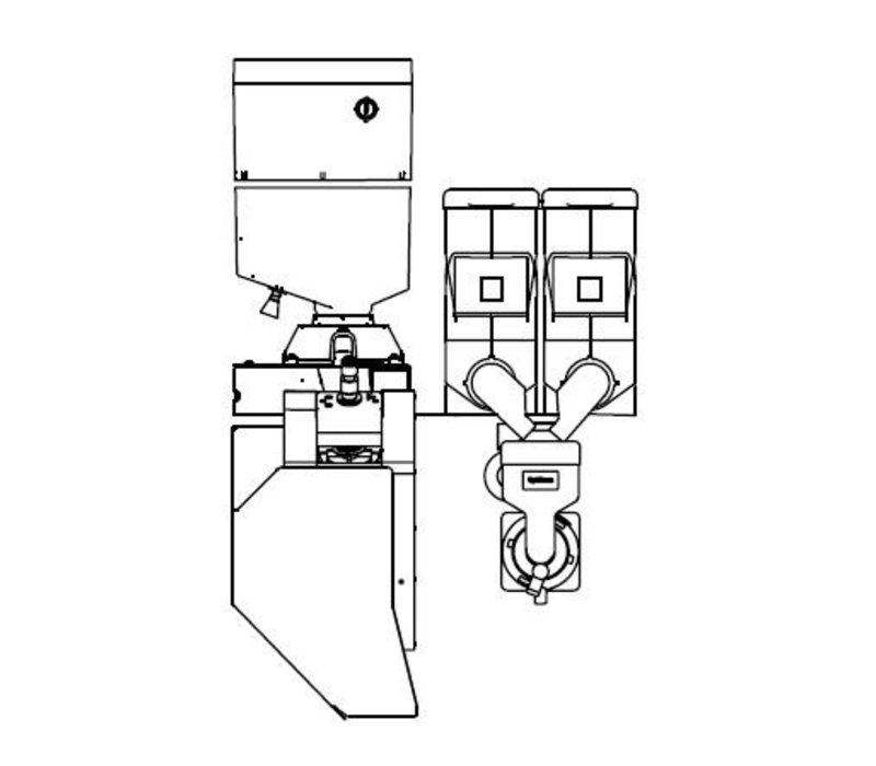 Animo Optibean 3 Touch | Koffiebonen | 2 Canisters | Beschikbaar in 3 Kleuren