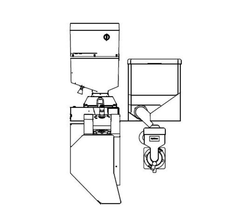 Animo Optibean 2 XL NG | Koffiebonen | 1 Canister | Beschikbaar in 3 Kleuren